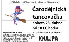 Pozvánka na Čarodějnickou tancovačku 2018